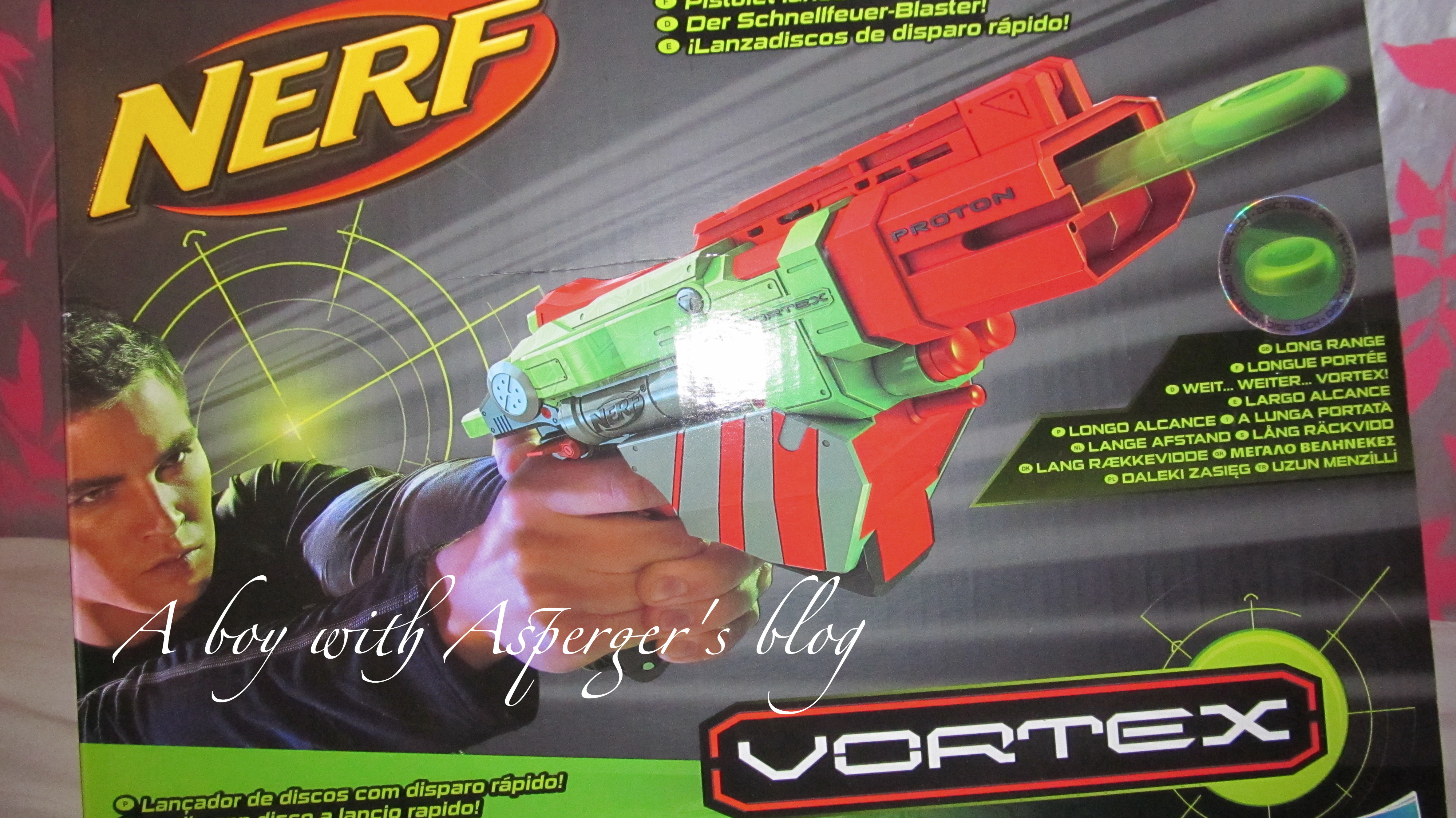 We quite recently reviewed another Nerf blaster (the daddy of Nerf's) So, I  knew the Little man would be happy to receive this addition of Nerf blaster.