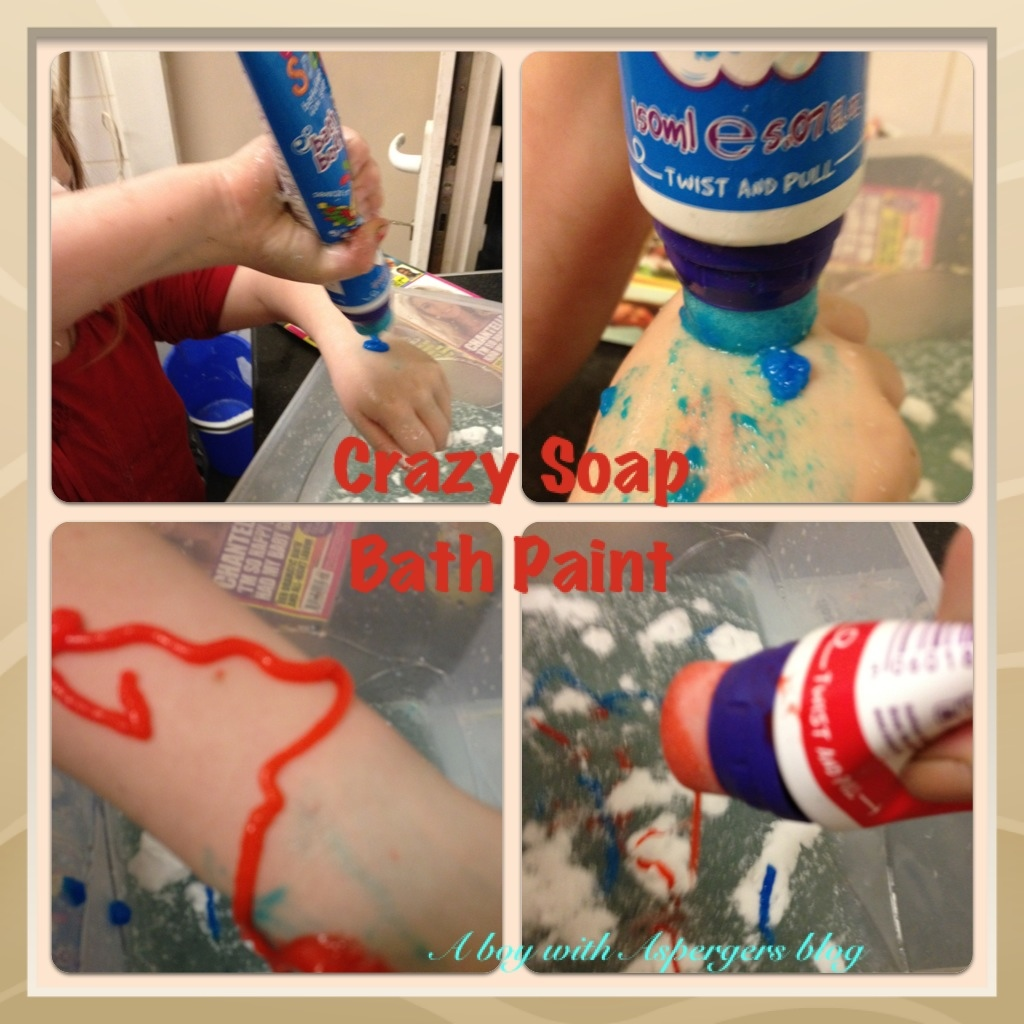 Sensory Fun with Crazy Soap | A boy with Asperger's